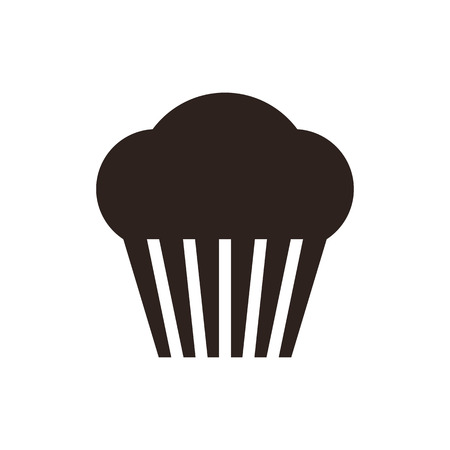 Muffin. Cupcake icon isolated on white background