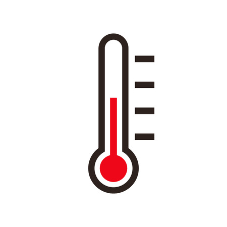 Thermometer icon isolated on the white background