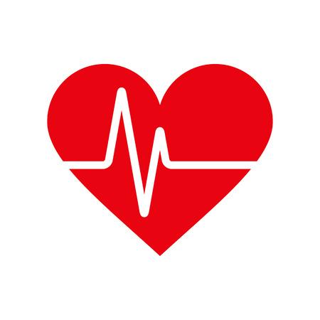 Heartbeat icoon. Elektrocardiogram, ecg of ekg op een witte achtergrond