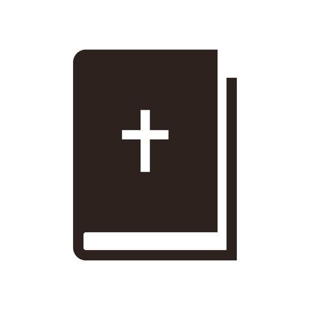 writ: Bible icon isolated on white background