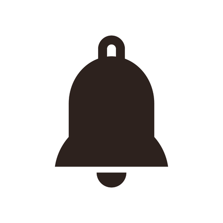 church bell: Bell icon isolated on white background Illustration