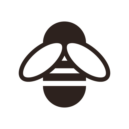 bee: Значок Би изолирован на белом фоне