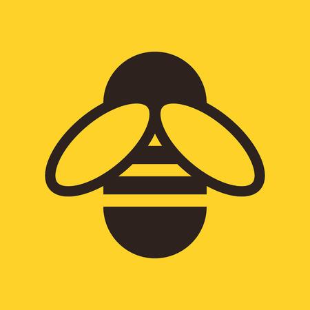 Bee icône sur fond jaune Banque d'images - 41848000