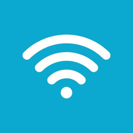 worldwide website: Wi-Fi icon on blue background