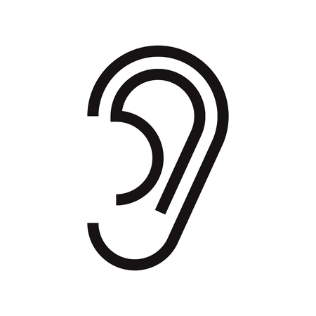 Ear icon isolated on white background Banco de Imagens - 44218143
