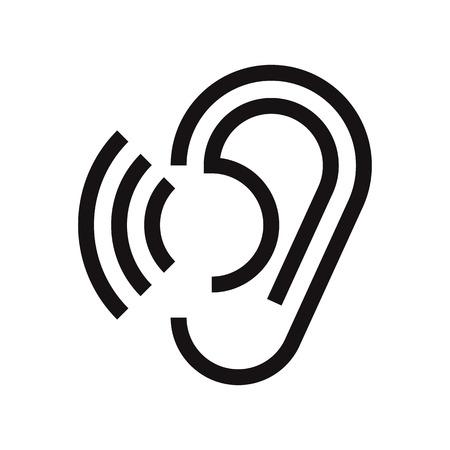 Ear-Symbol. Gehör Symbol isoliert auf weißem Hintergrund Standard-Bild - 44218675