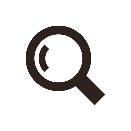 magnifying: Magnifying glass. Search icon isolated on white background Illustration