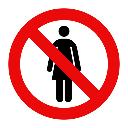 anti racist: No woman sign isolated on white background Illustration