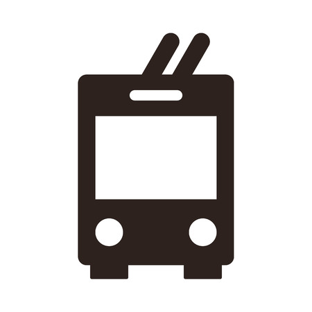 miles: Trolley bus icon isolated on white background