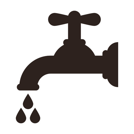 stopcock: Water tap icon isolated on white background