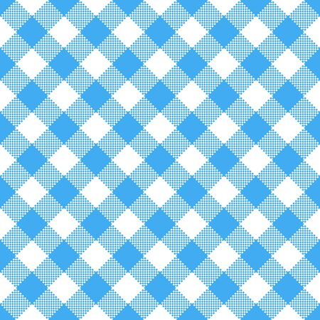 quadrat: Blue and white tablecloth pattern