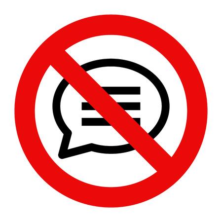 no symbol: No talking sign. No speaking symbol isolated on white background Illustration