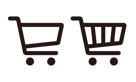 commercials: Shopping Cart Icon Set isolated on white background