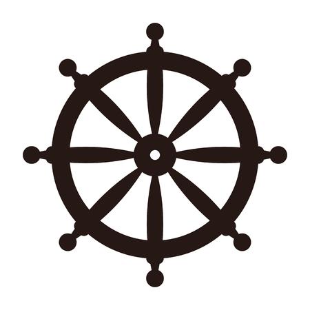Rudder icon isolated on white background