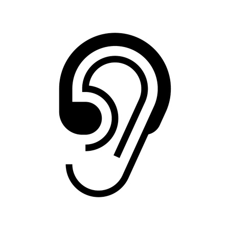 Hearing aid icon isolated on white background