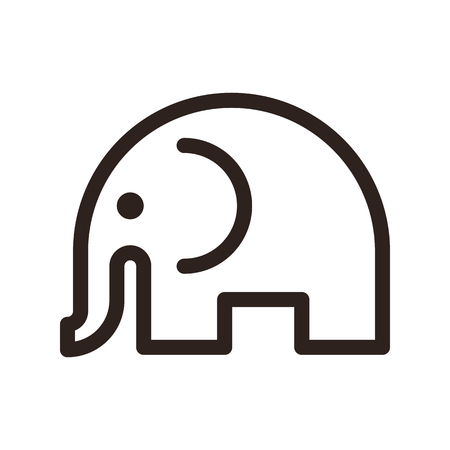 Elephant isolated vector