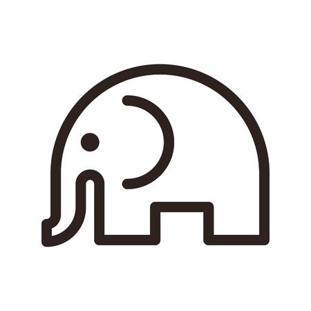 Vecteur isolé d'éléphant Banque d'images - 87347885