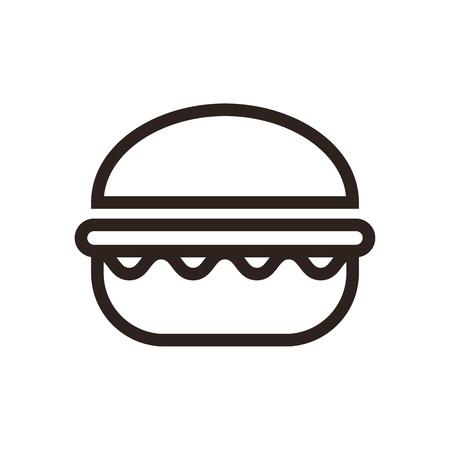 Hamburger icon  isolated on white background