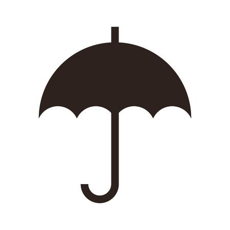 Umbrella isolated on white background