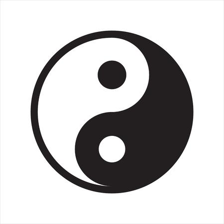 Yin Yang Symbol isolated on white background Illustration