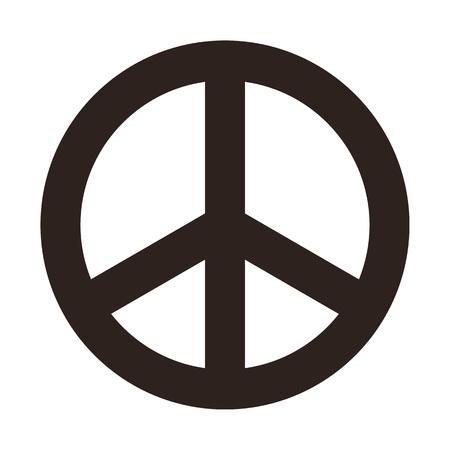 Peace symbol isolated on white background