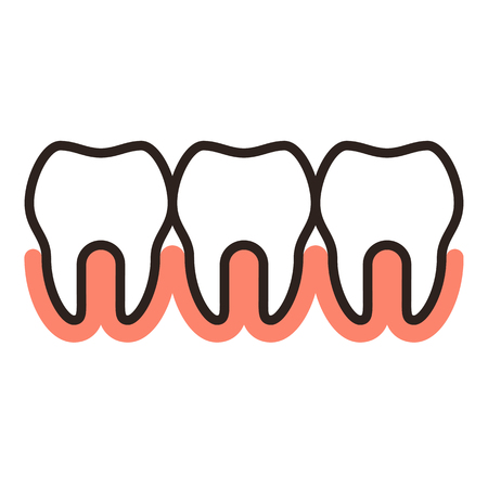 Teeth icon isolated on white background