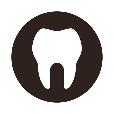 Tooth icon. Dental symbol isolated on white background