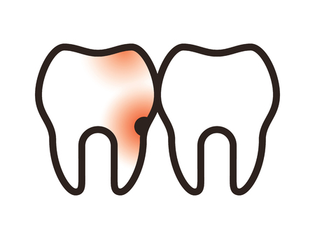 Toothache icon isolated on white background