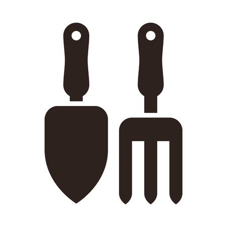 Gardening tools icon isolated on white background