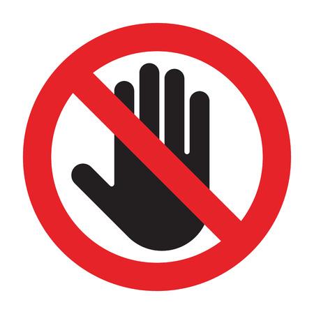 Znak zakazu wejścia na białym tle
