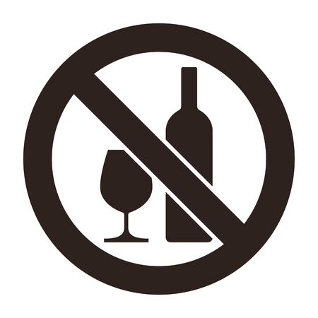 No alcohol sign. Warning sign isolated on white background Banque d'images - 131975577