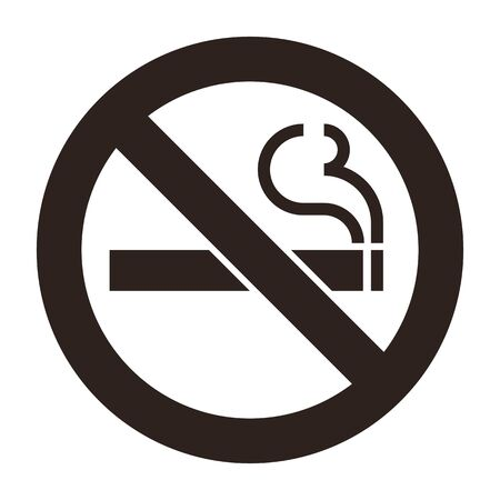 No smoking sign. Smoking prohibited symbol isolated on white background Banque d'images - 131976576