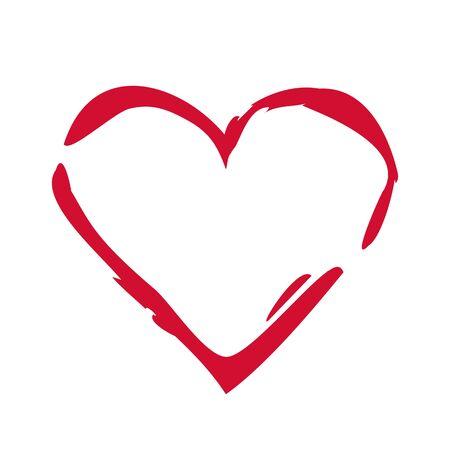 Herz isoliert auf weißem Hintergrund Vektorgrafik