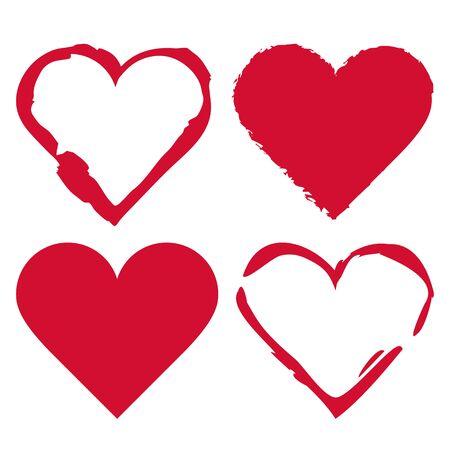 Heart set isolated on white background