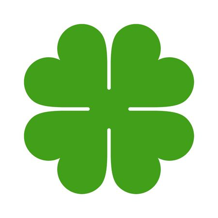 Four Leaf Clover Icon. Saint Patrick Symbol isolated on white background Vector Illustratie