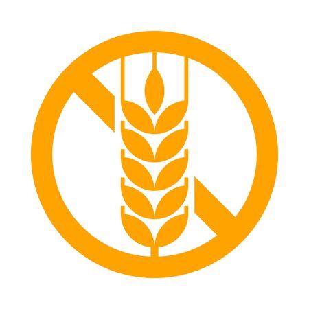 Gluten free sign isolated on white background Illustration