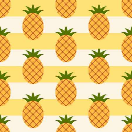 Pineapple pattern. Pineapple seamless background