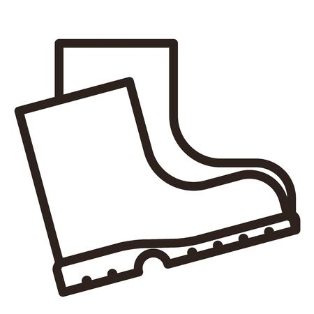 Boots icon isolated on white background