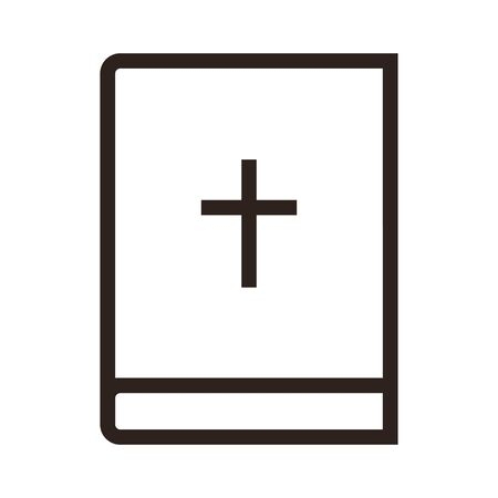 Bible icon isolated on white background