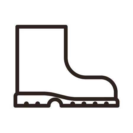 Boot icon isolated on white background Ilustração