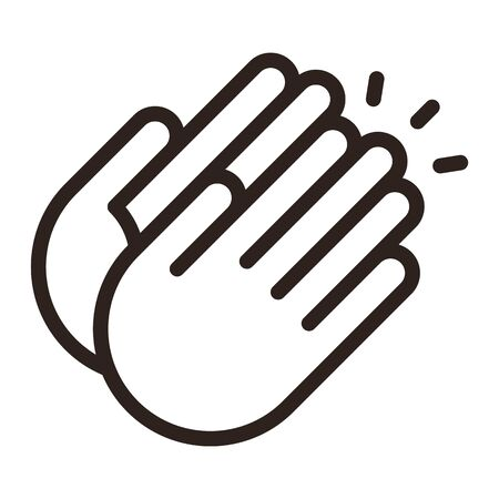 Clapping hands icon isolated on white background Ilustração