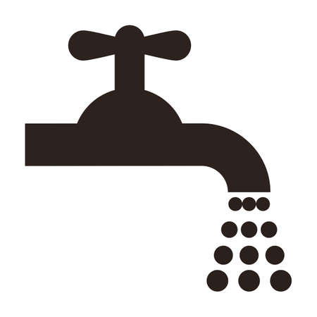 Water tap icon isolated on white background Vector Illustration