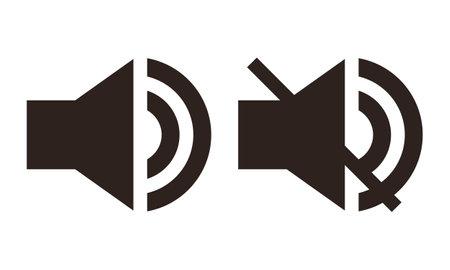 Sound icon set isolated on white background