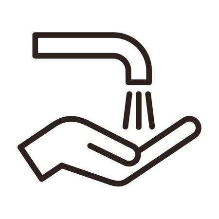 Wash hands sign. Corona virus prevention