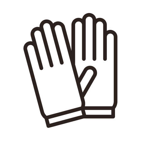 Protective gloves icon. Corona virus prevention 矢量图像