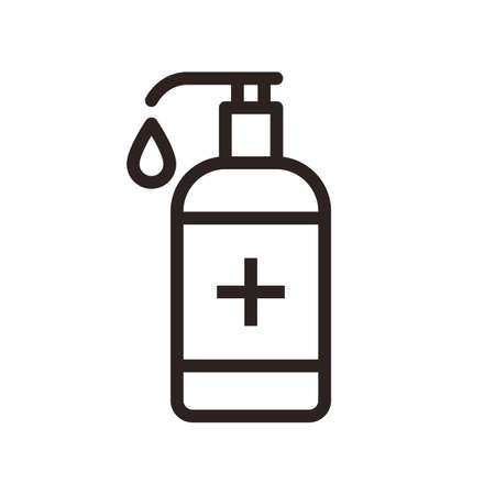 Disinfectant icon. Liquid soap icon isolated on white background 矢量图像