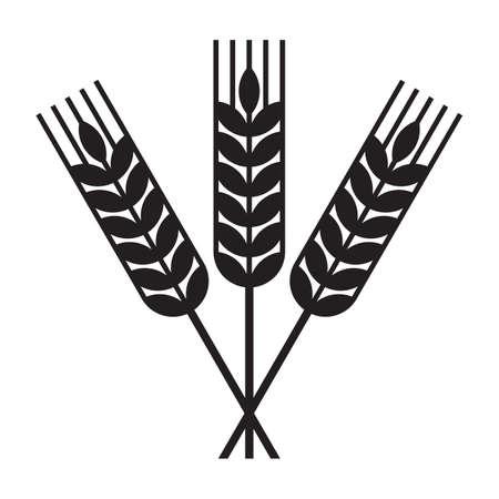 Harvest wheat symbol. Sheaf of wheat isolated on white background Illusztráció