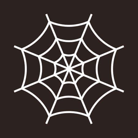 Spiderweb. Cobweb icon isolated on dark background