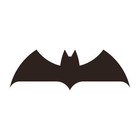 Halloween bat icon. Bat silhouette isolated on white background Illusztráció