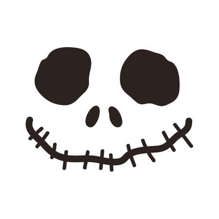 Halloween skull isolated on white background
